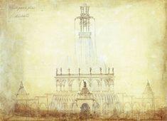 Proyecto de Fuente monumental para la Plaza Cataluña de Barcelona, de Antoni Gaudí (1877)