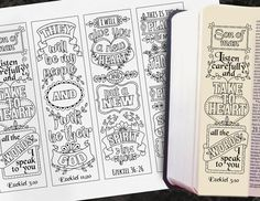 EZEKIEL - 4 Bible journaling printable templates