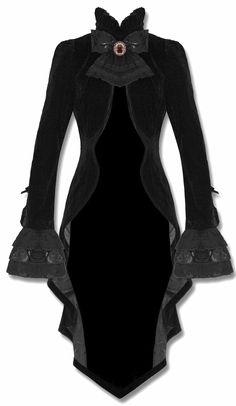 vampire velvet tailcoat <3 I must have this!                              …