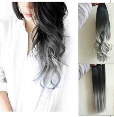 22 Full Head CURLY Clip in Dip dye Ombre Hair by CutieChocolate on Etsy