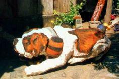 perro san bernardo con barrilito