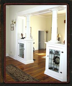 I love Craftsman style details, like these lovely room dividers. If my house doesn't have these, I'm building them. :]