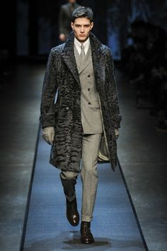 Canali A/W13-14 Menswear: Textured Trench