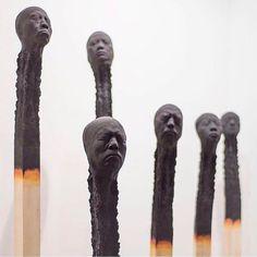 Absolutely unreal matchstick men by @wolfgang_stiller #Designspiration #tinyart #art #sculpture - View this on https://www.instagram.com/Designspiration/