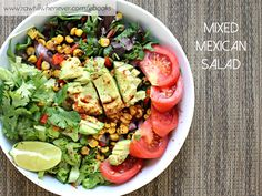 Mixed Mexican Salad recipe featured from my raw vegan recipe book #ILIKEITRAW.