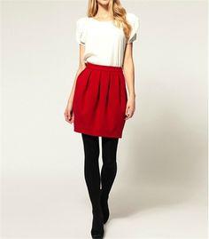 New-Women-fashion-woolen-Pleated-short-Mini-High-Waist-Party-Casual-Bud-Skirt