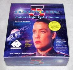 "Babylon 5 Collectible Card Game Deluxe Edition by Precedence. $10.00. Rare Babylon 5 Collectible Card Game Deluxe Edition.  Random packs contain a card autographed by ""Ivanova"" actress Claudia Christian."