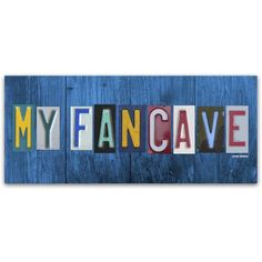 Trademark Fine Art 'My Fan Cave' Canvas Art by Design Turnpike, Size: 10 x 24, Multicolor