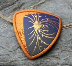 Waipio, pendant by Beadelz polymer crea's, via Flickr