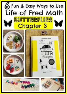 6 Fun & Easy Ways to Use Life of Fred Math: Butterflies Ch. 3 - Activities, crafts, & more-FREE PLANNER & PRINTABLES!  skip counting, butterfly life cycle, months of the year