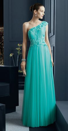 Turquoise Dress by Rosa Clara 2015