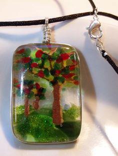 Cherry Tree Pendant Cherry Tree Necklace Apple Tree Pendant