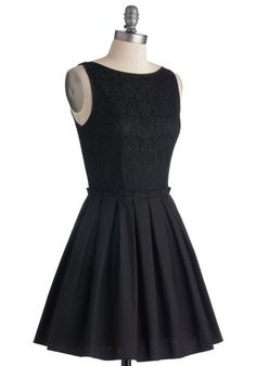 Where to Tonight? Dress, #ModCloth  The cut it very Audrey Hepburn.