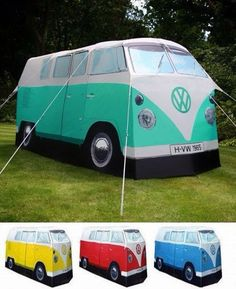 Rv-shaped tent