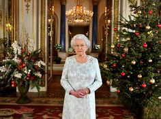 Buckingham Palace gets very decked out for the season.