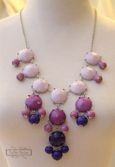 J Crew Inspired Ombre Statement Bubble Necklace
