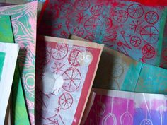 HANDMADE holiday tutorial--->make your own holiday stamps  & printed wrapping papers