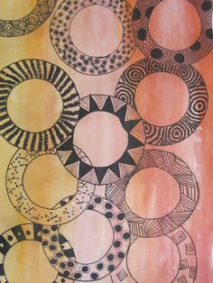 Pattern Geometriche unity- This shows unity by all the circles. All the circles are over lapping eac… Doodles Zentangles, Zentangle Patterns, Linear Art, Circle Painting, African Quilts, Art Cart, Unity In Diversity, Elements And Principles, Zen Art