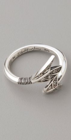 Arrow ring by Robert Morris Lee -- perfect  since I'm a saggitarius