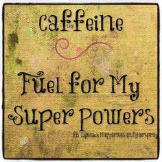 Caffeine fuel for my superpowers / coffee shop stuff i love coffee, cof Coffee Talk, Coffee Is Life, I Love Coffee, Best Coffee, Iced Coffee, Coffee Shop, Coffee Cups, Coffee Break, Coffee Lovers