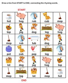 ESL-EFL Worksheets, Kindergarten Worksheets, Rhyme Time Worksheets - when he gets the hang of it Kindergarten Homework, Free Kindergarten Worksheets, Phonics Worksheets, Phonics Words, Cvc Words, Word Puzzles For Kids, Preschool Charts, Three Letter Words, English Phonics