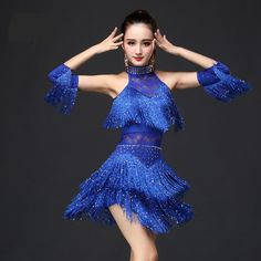 New 2017 Latin Dance Dress Women/Girls/Lady New Sexy Fringe Salsa/Ballroom/Tango/Cha Cha/Rumba/Samba/Latin Dresses For Dancing Dress only, not including other accessories We always strive to provide customers with high qua. Trendy Dresses, Sexy Dresses, Beautiful Dresses, Daddy Daughter Dance Dresses, Danse Salsa, Latin Ballroom Dresses, Ballroom Dancing, Latin Dresses, Rumba Dance