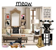 """""""Cats at Home"""" by belladonnasjoy ❤ liked on Polyvore featuring interior, interiors, interior design, home, home decor, interior decorating and Naked Decor"""