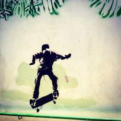 Skate #streetart in Sao Paulo - #PUMA #PUMALife #skatesuede #saopaulo #Brazil #skate