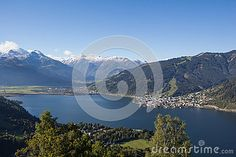 View From Mitterberg To Zell Am See Lake Zell & Kitzsteinhorn Stock Photo - Image of days, around: 60257006 Zell Am See, Salzburg, Autumn Fall, Alps, My Images, Sunny Days, Austria, Colorful, Seasons