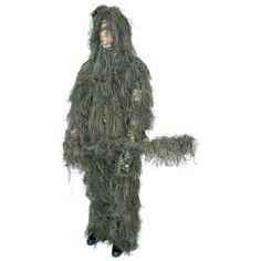The Classic Safari Woodland Ghillie Suit includes jacket, pants, removable hood, and rifle wrap. Features fire-retardant camouflage fibers lightweight, breathable interior lining and mildew-resistant materials. Camouflage Face Paint, Best Camouflage, Ghillie Suit, Survival Rifle, Survival Gear, Hunting Suit, Tactical Suit, Safari, Plate Carrier Vest