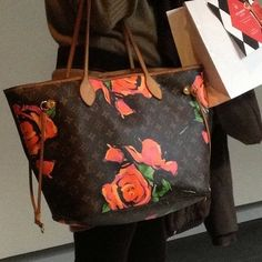 #HandbagSpy Louis Vuitton Monogram Rose Print Neverfull bag