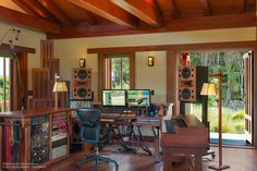 Custom Augspurger Speakers at Woodshed Recording Studio Malibu