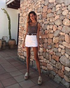 Source by SooPush Outfits verano Stylish Summer Outfits, Comfortable Outfits, Spring Outfits, Casual Outfits, Cute Outfits, Fashion Outfits, Casual Clothes, Fashion Trends, Club Outfits For Women