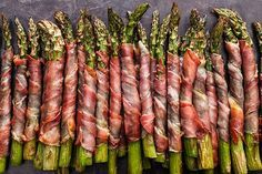 Crispy Prosciutto-Wrapped AsparaGus add cream cheese before wrapping asparagus for more flavor!!!