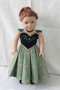 "Frozen Anna's Coronation 18"" doll Dress! Fits 18"" Doll RESERVED"