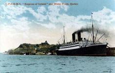 Départ de l'Empress of Ireland du Port de Québec en 1910