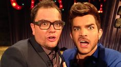 @chattyman  OH EM GEE!! @ adamlambert AND @AlanCarr! BEST SELFIE EVER!! Sam x #chattyman
