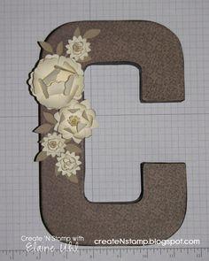 diy monogram wedding gift idea - altered paper mache letter