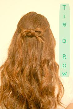 No Heat Hairstyles: Hair Bow (2 Ways!)