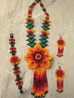 A personal favorite from my Etsy shop https://www.etsy.com/listing/292556891/mexican-huichol-beaded-necklace-set