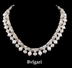BULGARI Diamond & Pearl Necklace - Yafa Jewelry