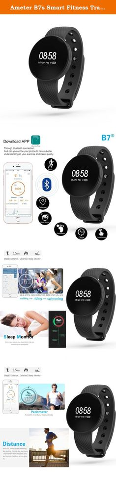 Ameter B7s Smart Fitness Tracker, Bluetooth Activity Wristband Bracelet IP67 Waterproof Touch Screen. Ameter B7s Smart Fitness Bracelet can help you record and improve your healthy life. Get Start of the B7s, you need to sign up with your basis personal information and log in the APP. Then you can do the BMI test to get the report of your health condition and improve suggestion. Also, you can assigns a personalized goal and drinking sedentary reminder to motivate you to improve your…