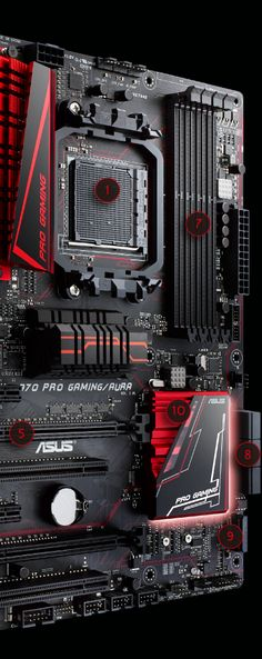 970 Pro Gaming/Aura is the world's first AMD 970 chipset-based ATX gaming motherboard with official NVIDIA® SLI™ certification, fast Intel Gigabit LAN, awesome RGB lighting and next-gen connectivity. Pc Gaming Setup, Gaming Pcs, Computer Setup, Pc Setup, Gaming Computer, Gamer Setup, Computer Build, Computer Engineering, Computer Technology