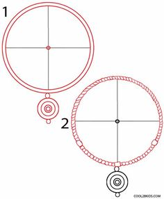 How to Draw a Dreamcatcher Step 1