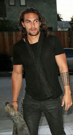 """The man in black"" Jason Momoa"