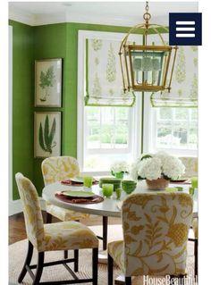 lime green walls