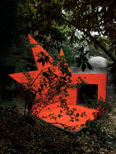 """Explosive architectural installation"""" added to André Bloc's 1950s villa."""