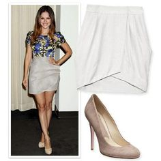 Skirt and Shoe Combos for Mile-Long Legs - Light Skirt, Textured Pumps