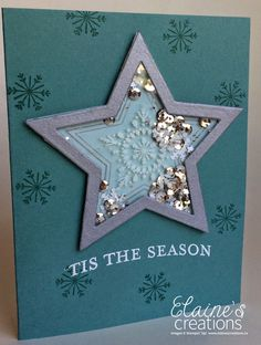 Many Merry Star Shaker Card Video Tutorial Stampin Up Many Merry Stars, Handmade Christmas, Christmas Crafts, Christmas Star, Xmas Cards, Greeting Cards, Candy Cards, Shaker Cards, Boyfriend Crafts