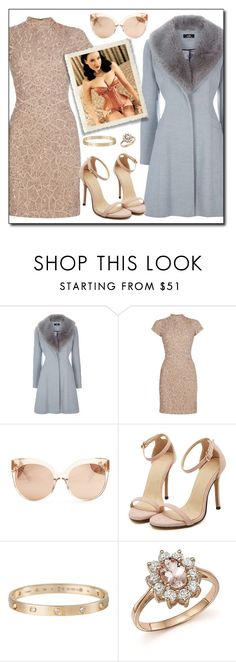 """Standard Features 86"" by antoniasalvato ❤ liked on Polyvore featuring Raishma, Linda Farrow, Cartier, Bloomingdale's, Dita Von Teese, Pink, corset, rosegold, fur and champagne"